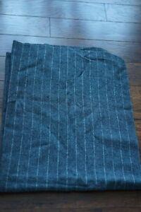 VTG-Tennessee-Woolen-Mills-Lightwgt-Gray-Stripes-Wool-blend-Blanket-40-034-52-034-USA