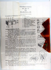 Mamiya 16 Instructions - one-sided, no print date