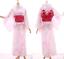 k-028-Blanco-Rosa-Brillo-Sakura-Floral-Original-Japon-kimono-yukata-OBI-Cinturon