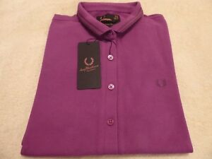 Nuevo-BNWT-Para-Mujer-Fred-Perry-Twin-Tipped-Amy-Polo-Talla-10-34-95-amp-poste-libre
