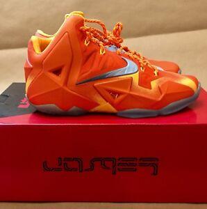 """94ca47db6aa815 Nike LeBron 11 Preheat """"Forging Iron"""" Urban Orange Blue 626376 800 ..."""