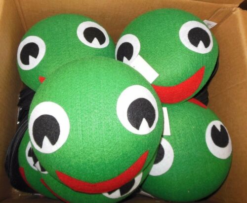 Lot of 3 Green Caterpillar Tadpole Hats Child//Adult with fastners