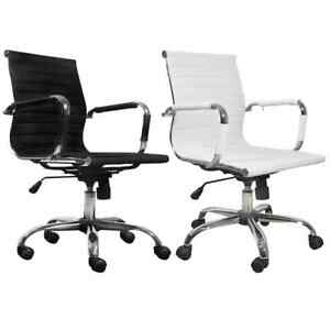 Modern Office Chair Conference Room Leather Upholstered