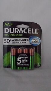 Image Is Loading 4 DURACELL AA Rechargeable NiMH 2400 MAh 1
