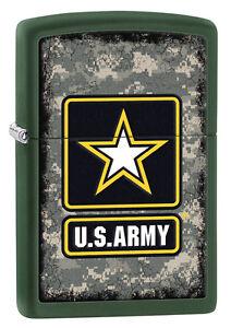 Zippo Green Matte U.S. Army Windproof Lighter 28631 New