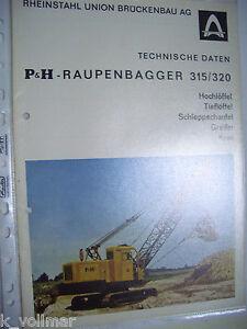 Logique Erd / BÂtiment / Info Original Acier Pur Prospectus P&h Pelle Sur Chenilles