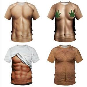 2019 Men Summer 3D Print Round Neck Short Sleeve T-shirt Tank Tee Top Hot Gift