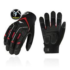 Vgo 1pair Synthetic Leather Work Gloves Heavy Duty Mechanic Glovessl9722