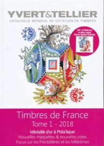 YVERT-amp-TELLIER-2018-CATALOGUE-STAMPS-FRANCE-PHILATAIPEI-DISCOUNT
