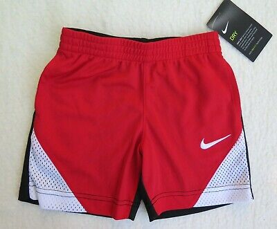 Nwt Msrp$24.00 Buy One Give One Size 3t Nike Little Boys' Colorblocked Red/black Shorts