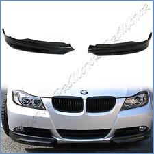 Carbon Fiber Front Splitter Add On Lip Fit 05-08 BMW E90 E91 Standard Bumper Use