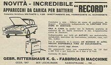 W6264 Apparecchi da carica per batterie RECORD - Pubblicità 1966 - Advertising