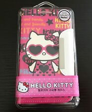 For Samsung Galaxy Note 2 - HOT PINK HELLO KITTY LEATHER CARD WALLET POUCH CASE