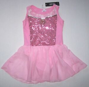8a00b15e3 Nwt New iEFiEL Leotard Dress Costume Princess Pink Sequins Attached ...