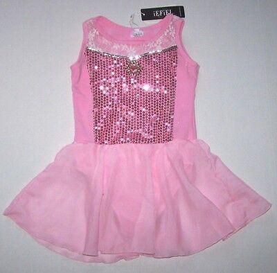 Nwt New Moret Leotard Leo Dress Skirt Skirtall Petunia Garden Pink Glitter Girl