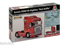 Italeri 3882 1/24 Model Show Trucks Kit Scania R560 V8 Highline Red Griffin
