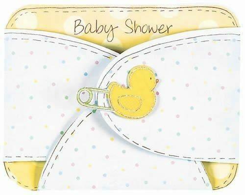 Baby shower Nappy Invites 8pce