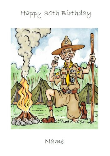 Scouts carte anniversaire toute occasion félicitations retraite personalise