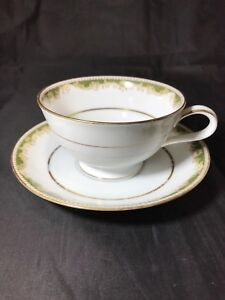 Noritake-Japan-Pattern-6872-Warrington-Fine-China-Cup-And-Saucer