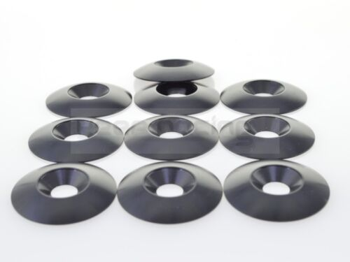 10 X Aluminium Rondelle Kart Siège Noir 34x8mm