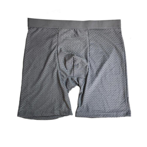 Men Ice Silk Boxer Shorts Body Shaper Underpants Soft Fitness Pouch Breathable