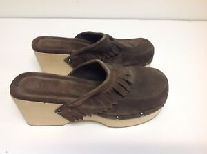 Womens-Shoes-Size-10-Wilson-Leather-Mules-Clogs