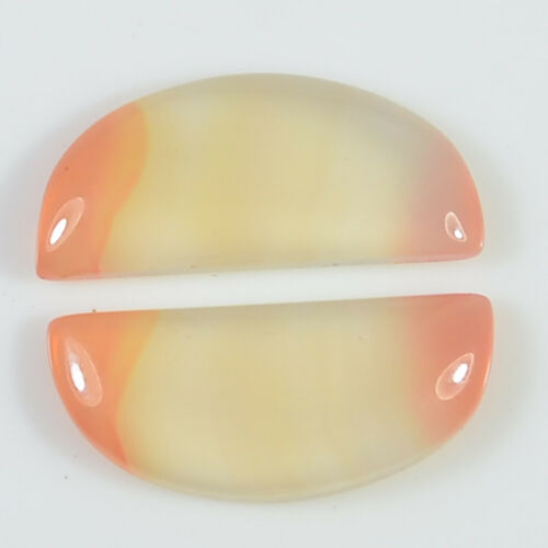 Natural fancy Agate Matched Pair Pendant Cabochon Loose gemstone