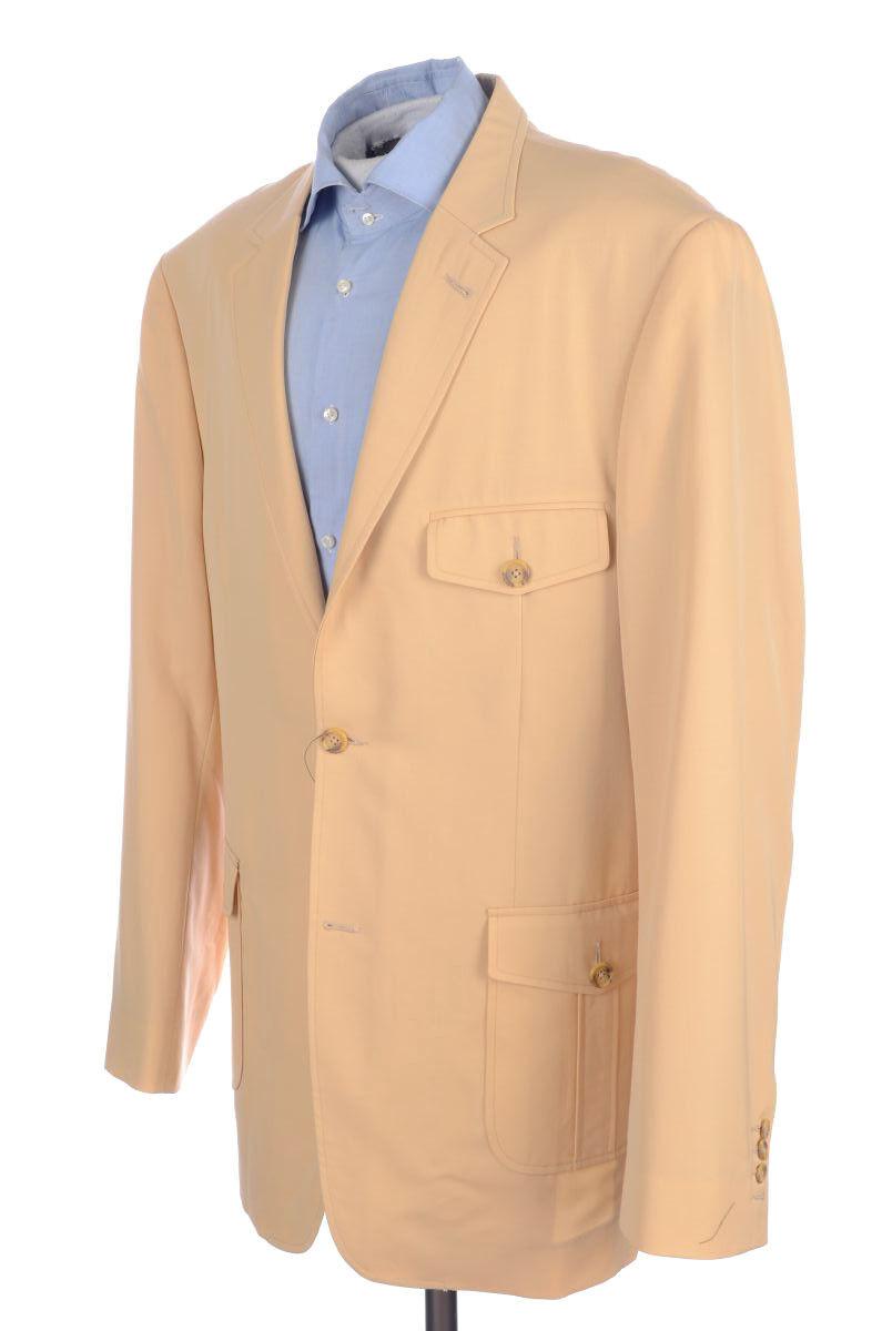 EARVIN MAGIC JOHNSON Solid Peach Twill NBA Blazer Sport Coat - BESPOKE 48 XL