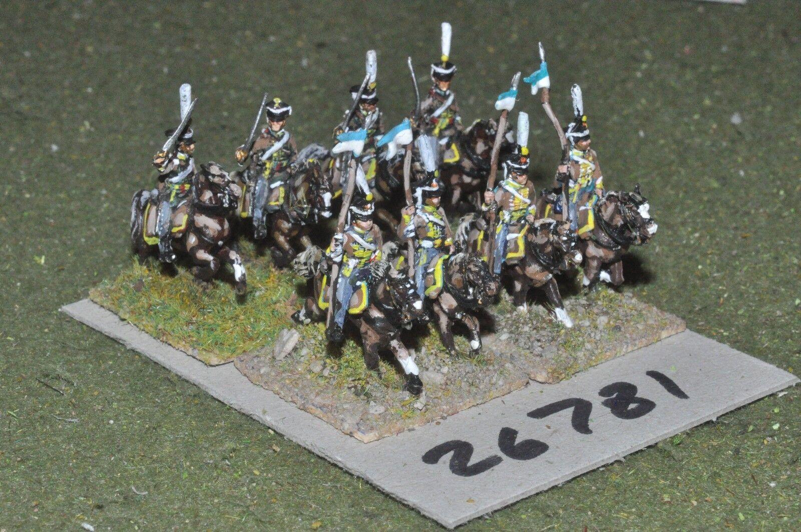 15mm napoleonic   russian - hussars 8 figures - cav (26781)