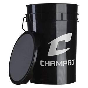 White /& Black Balls Sold Separately!! CHAMPRO 5 /& 6 Gallon Ball Bucket EMPTY