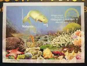 Miniature-sheet-Malaysia-2001-Hidupan-Laut-Siri-V-MNH