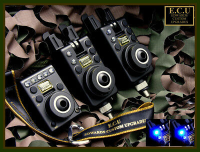 Edward Custom Upgrades NEW ECU MK1 Compact 2 Rod Carp Fishing Bite Alarm Set