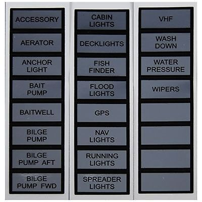 Marpac Marine Label Kit for Switch Panel Basic Fits all Marpac switch panels