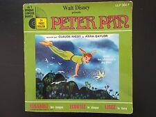 Livre disque 45 T Peter Pan Walt Disney