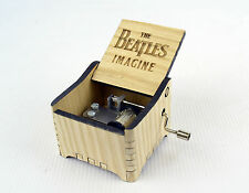 Personalized Hand Crank Wooden Music Box (The Beatles - Imagine)