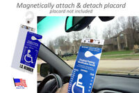 Hard & Sturdy Plastic Handicap Placard Protector & Holder, Magnetically On & Off