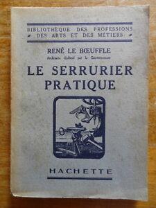 Rene-Le-Boeuffle-Le-Serrurier-Pratique-Editions-Hachette-1941