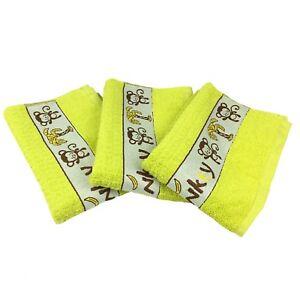 Details about New Riggs Set Of 3 Monkey Lime green Kitchen Tea Towels, 50cm  x 65cm,100% Cotton