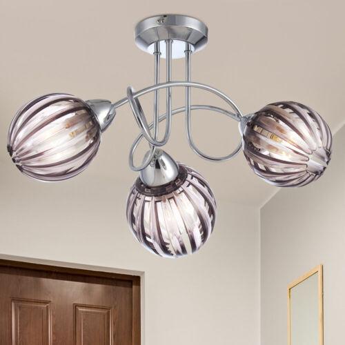 Design Plafonnier Chrome Projecteur salon chambre éclairage Spot Lampe fumée