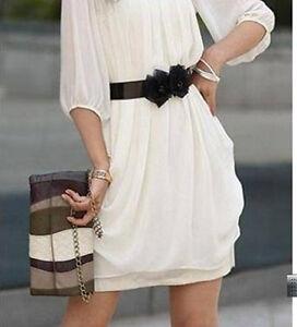 Women-039-s-Girl-Chiffon-Loose-Cocktail-Club-Summer-Mini-Tunic-Dress-Belt