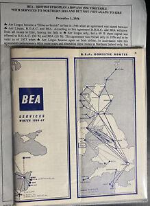 BEA-British-European-Airways-Timetable-Brochure-Information-Bulletin-1956
