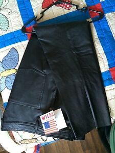 Vintage-Leather-pants-Wilda-size-12-late-1990-039-s