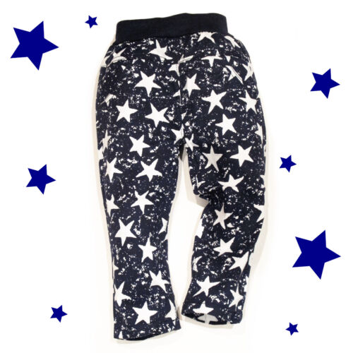 Baby Toddler Kids Elastic Cool style Jeans Stars Pattern Slim Fit Chino 18M-5Y