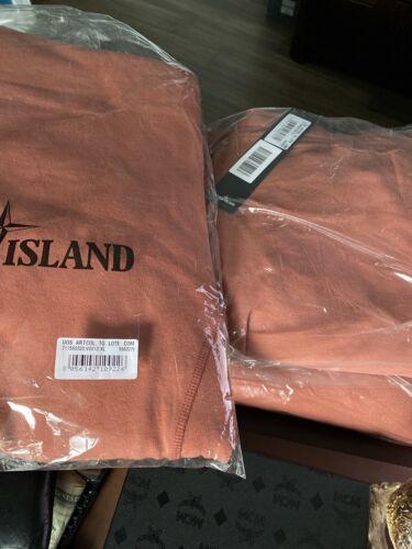 STONE ISLAND CORE FLEECE SWEATPANTS RUST LARGE