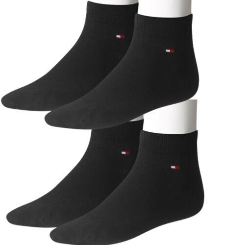 4 Paar Tommy Hilfiger Sneaker Socken Unisex 43-46 black