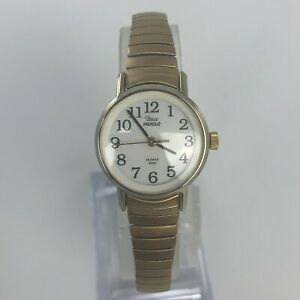 TIMEX-INDIGLO-WOMENS-EXPANSION-BLACELET-GOLD-TONE-WATCH