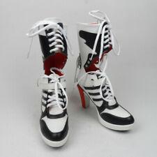 Beber agua graduado escándalo  Harley Quinn BOOTS Arkham City Cosplay Fashion PU Shoes Custom Made 37 for  sale online | eBay