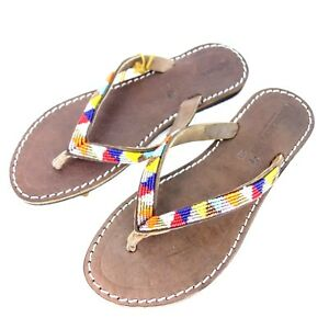 6f4388fde6d Laidback London Women s Sandals Toe post Shoes 36 39 Leather Beach ...