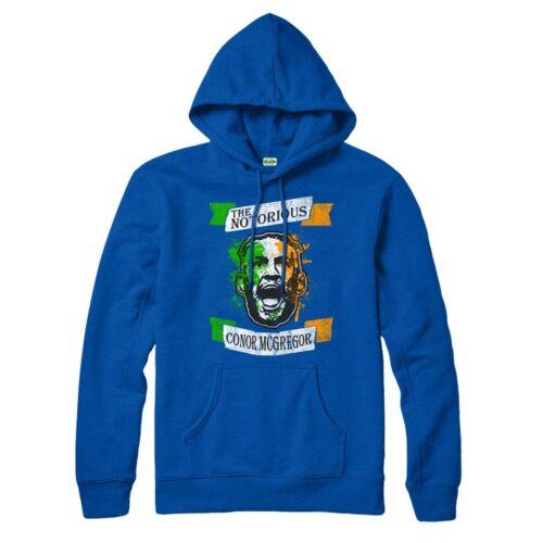 MMA Regalo Top UFC Il famigerato Conor McGregor Irlandese Bandiera spoof Felpa con cappuccio