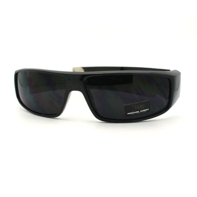 All Locs Sunglasses Gangster Black Top Wrap Flat Hardcore 0vm8nNw